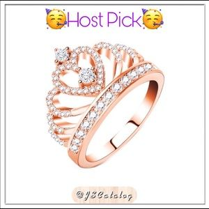 🌈SALE🌈 Rose Gold Plated Rhinestone Crown Ring